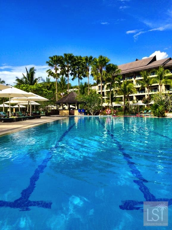 Swimming pool at the Shangri-La Rasa Ria one of Sabah's top honeymoon destinations