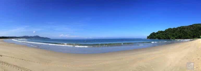 The broad beach at Shangri-La Rasa Ria - in one of Sabah's top honeymoon destinations