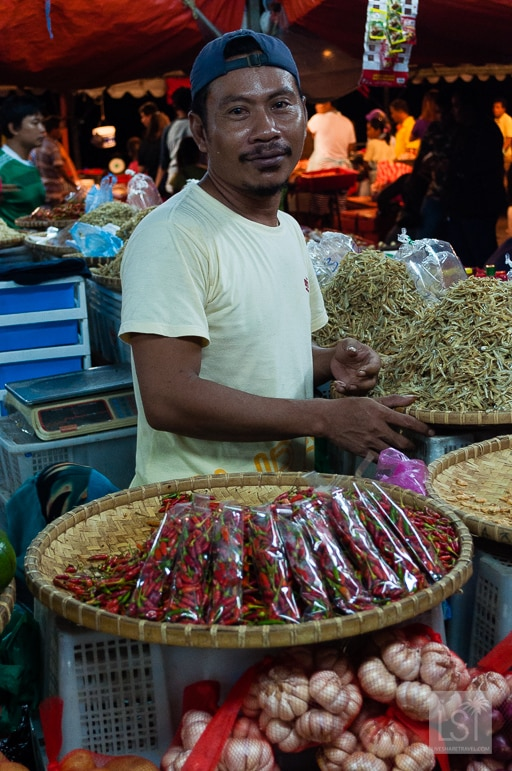 Trader at Philippines Market in Kota Kinabalu - one of Sabah's top honeymoon destinations