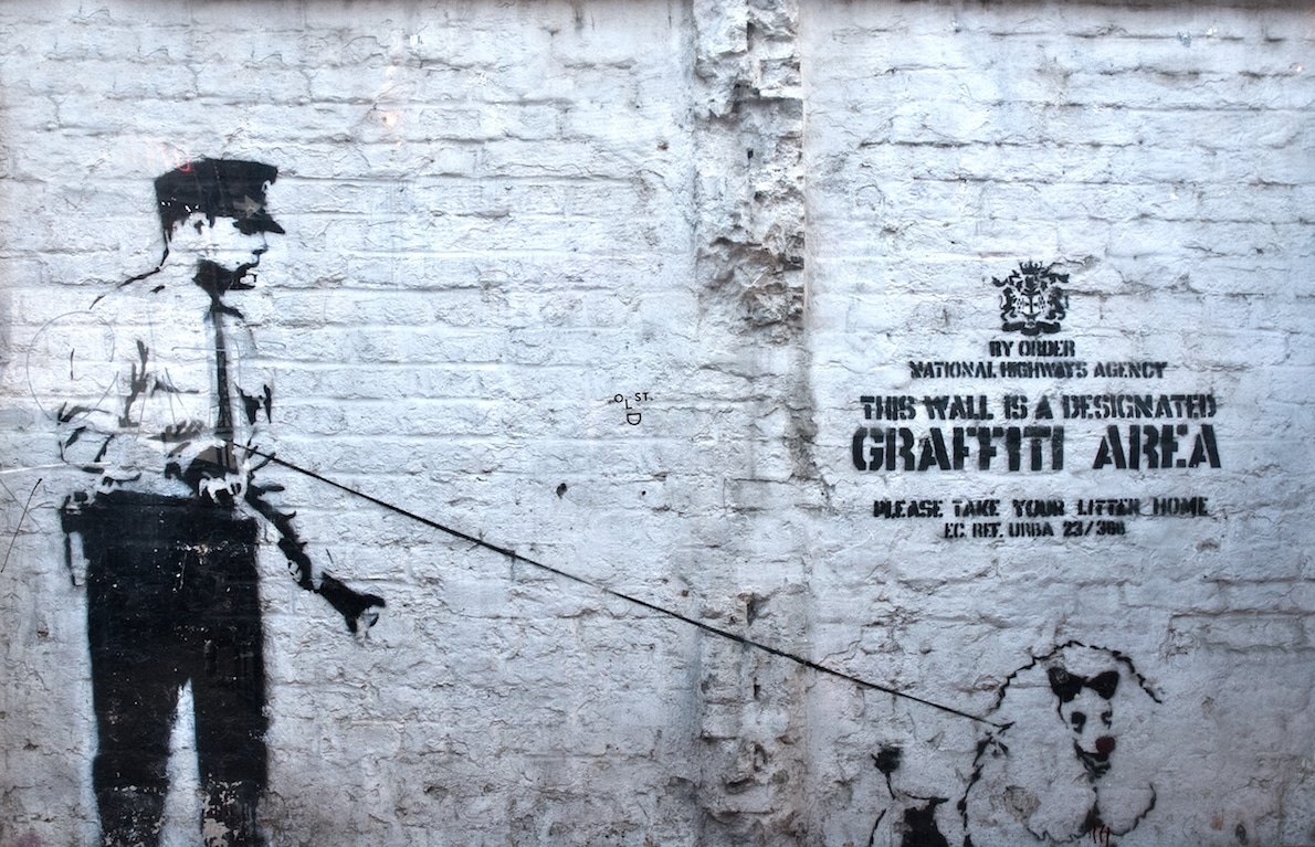 A Banksy in Rivington Street, Shoreditch - Places to visit in London - culture in East London | pic Berit Watkin