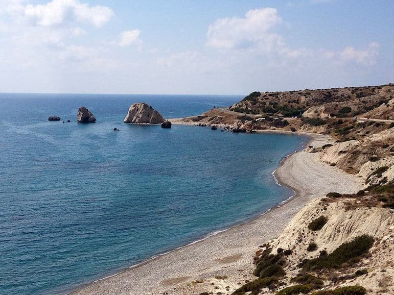Aphrodite's Rock in Cyprus, one of the most romantic destinations in the world