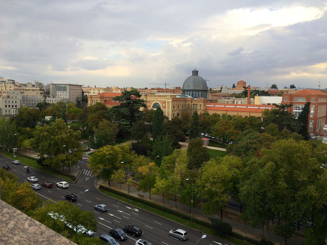 Places to go in Madrid - Museum of Sciences from the Hesperia Hotel 1
