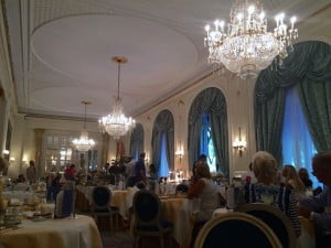 Places to go in Madrid - breakfast room at Hotel Ritz