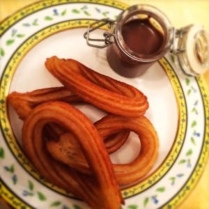 Places to go in Madrid - churros for breakfast at Hotel Ritz