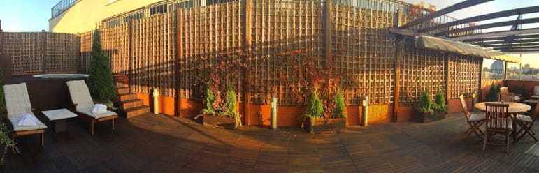 Places to go in Madrid - terrace of the presidential suite, Hesperia Hotel