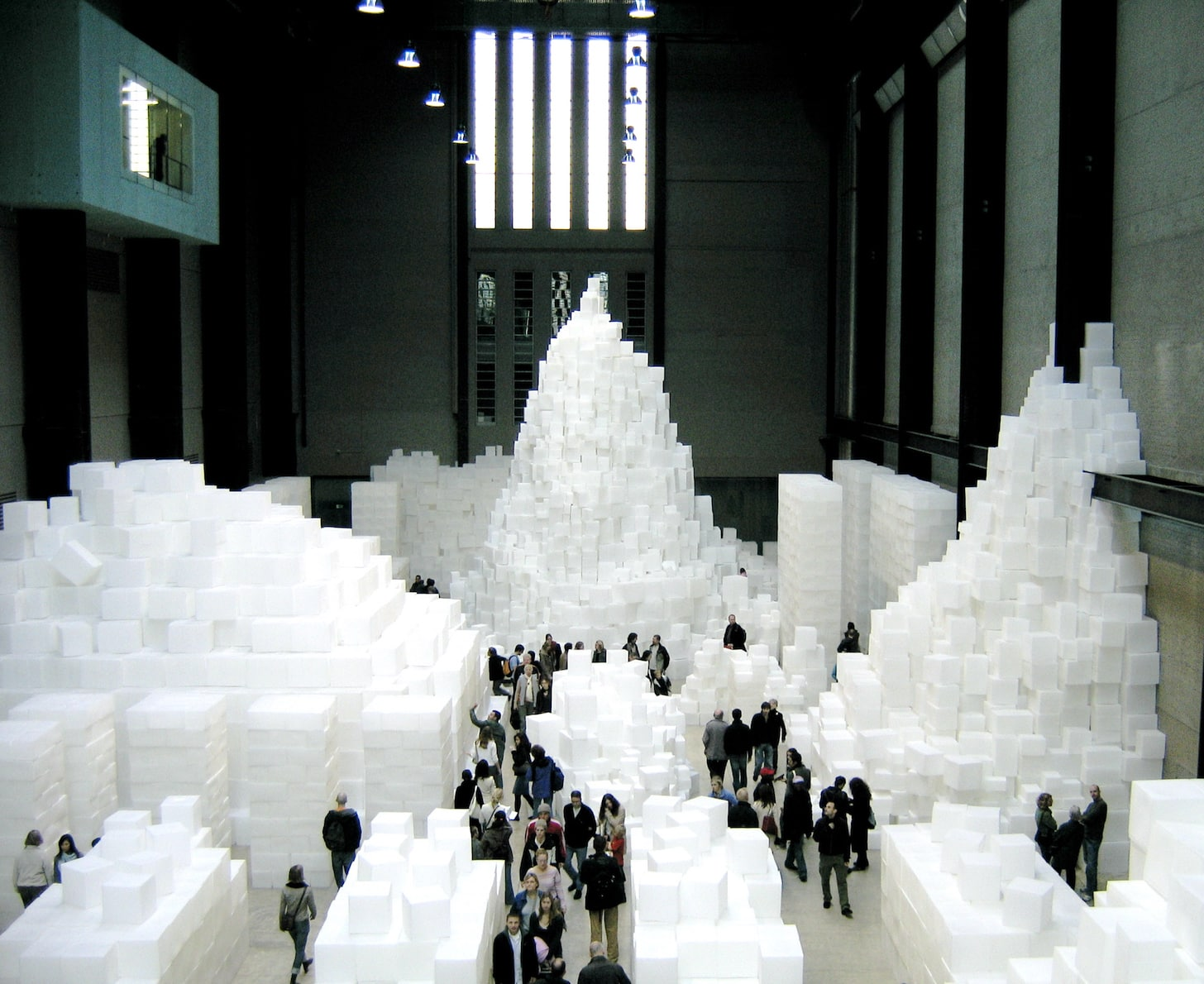 Places to visit in London - Rachel Whiteread's EMBANKMENT on display in the Turbine Hall of Tate Modern | pic: www.CGPGrey.com