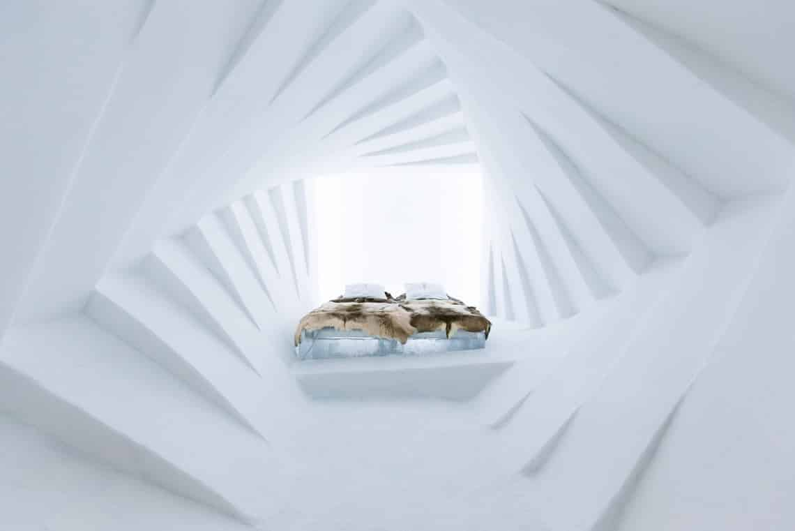 Room at Sweden's Icehotel - one of the most romantic places to go | pic: Icehotel