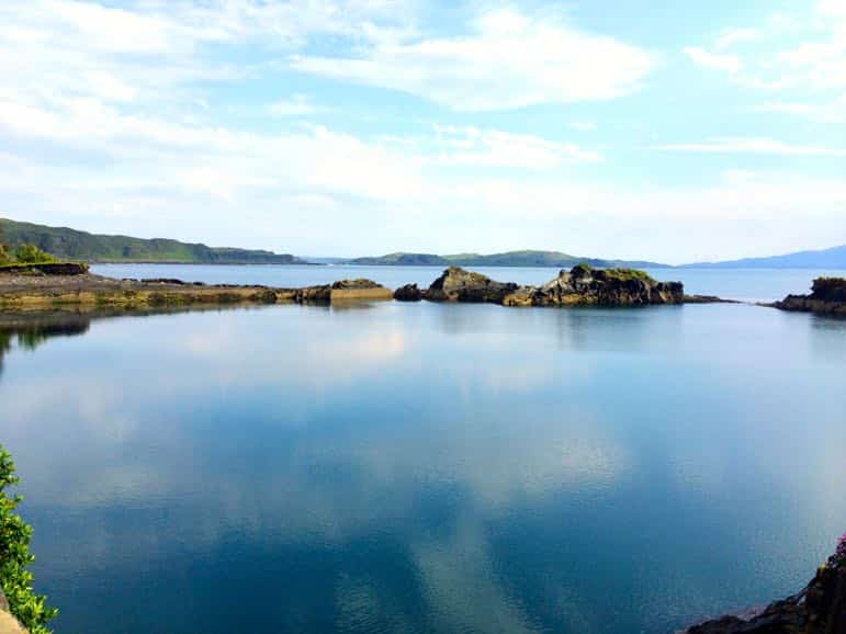 Sea view from Seil Island, in the Scottish Isles