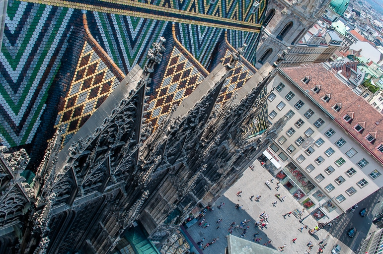 Things to do in Austria - take to the roof of St Stephen's Cathedral