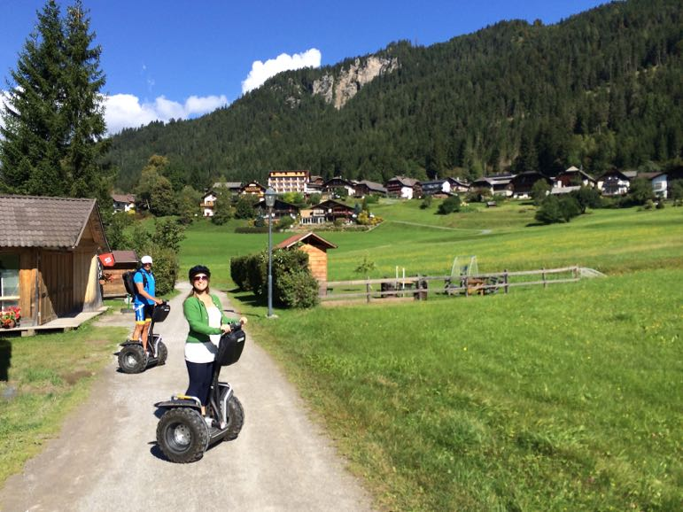 Enjoying the weather on a segway ride around Weissensee