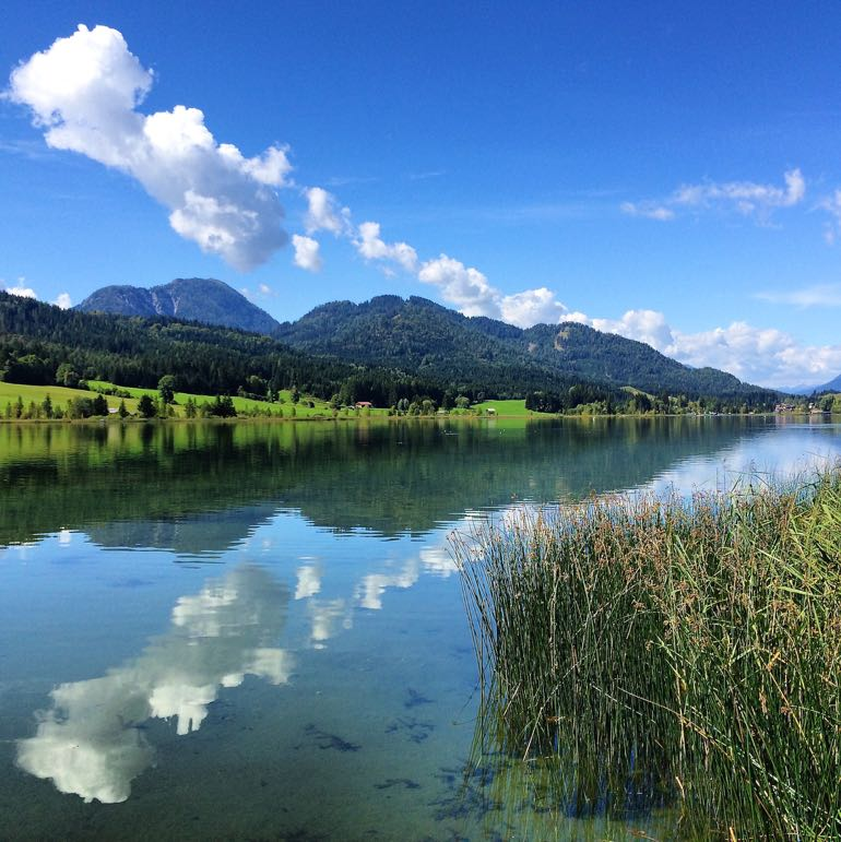 Weissensee, peaceful spot to enjoy the summer weather in Austria