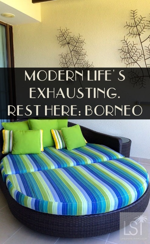 Where is Borneo? Right about where this day bed is