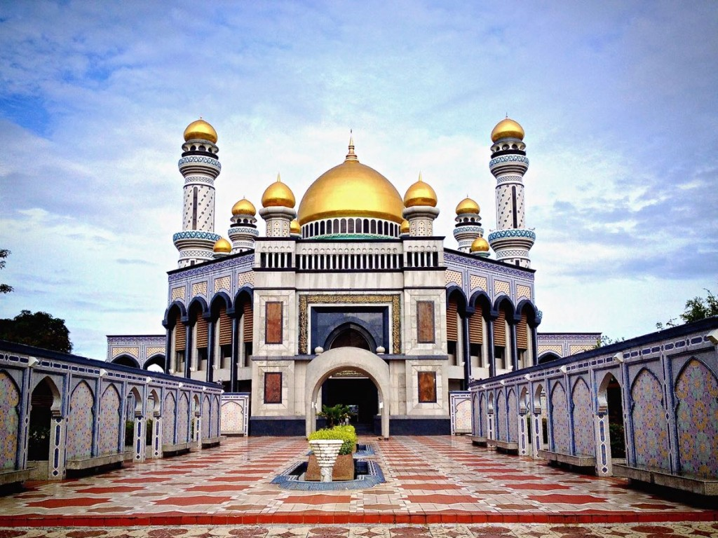 Jame'Asr Hassanil Bolkiah Mosque in Brunei's capital, Bandar Seri Begawan