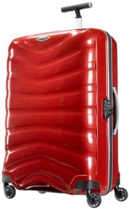 Samsonite Firelite four wheel spinner is a good hand luggage size
