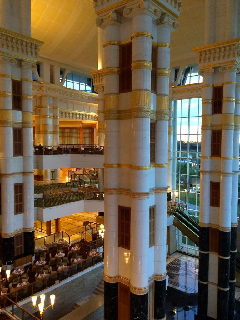 The palatial setting of Brunei's The Empire Hotel & Country Club, in Bandar Seri Begawan