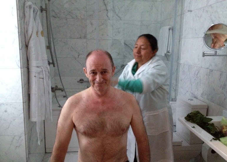 Limpia treatment at the Casa Gangotena