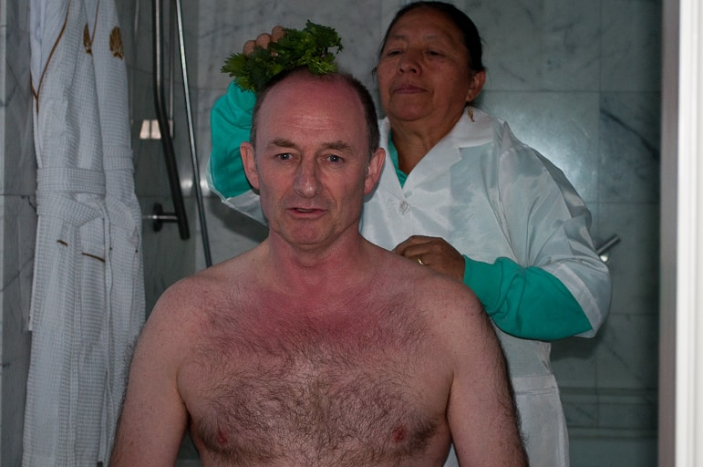Limpia treatment at Casa Gangotena
