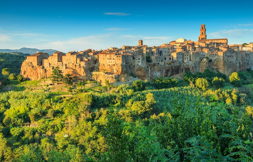 Carved from volcanic stone, Pitigliano, is one of the most beautiful places to visit in Tuscany