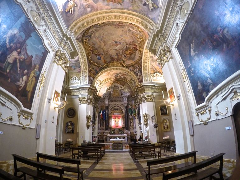 Chapel at Santuario di Santa Caterina in Siena, Tuscany