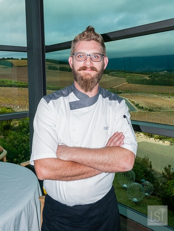 Chef Gregory Czarnecki at Waterkloof restaurant one of the Stellenbosch wineries