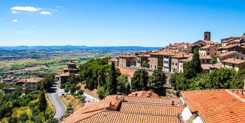 Cortona is one of the most beautiful small towns in Tuscany