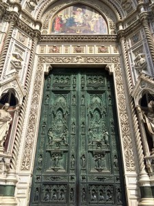 Door at Florence's duomo, one of the best places to go in Tuscany