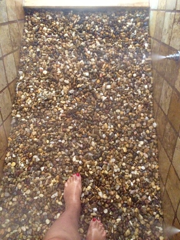 Footbath at Artiem Audax Hotel spa - a little sore for my feet would've been better off on the sand of Menorca beaches