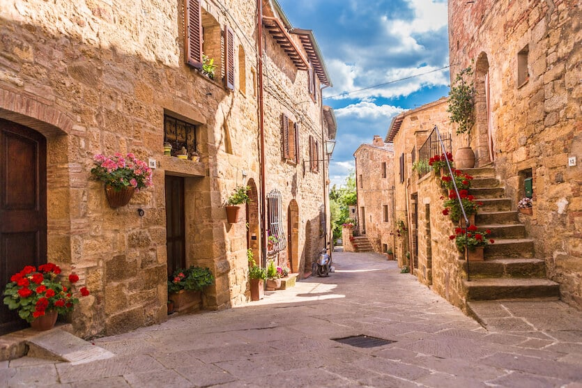Head to Pienza the home of pecorino cheese