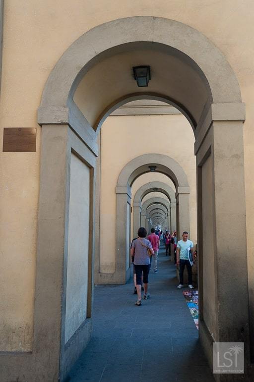 Heading to the Uffizi in Florence, one of many great things to do in Tuscany