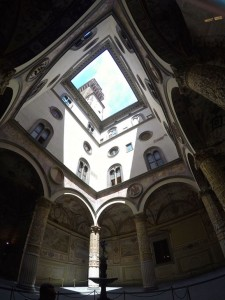 Inside the Palzzao Vecchio, Florence's town hall, from the ground to the open roof