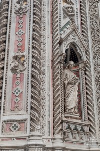 Intricate sculpture of Florence's duomo