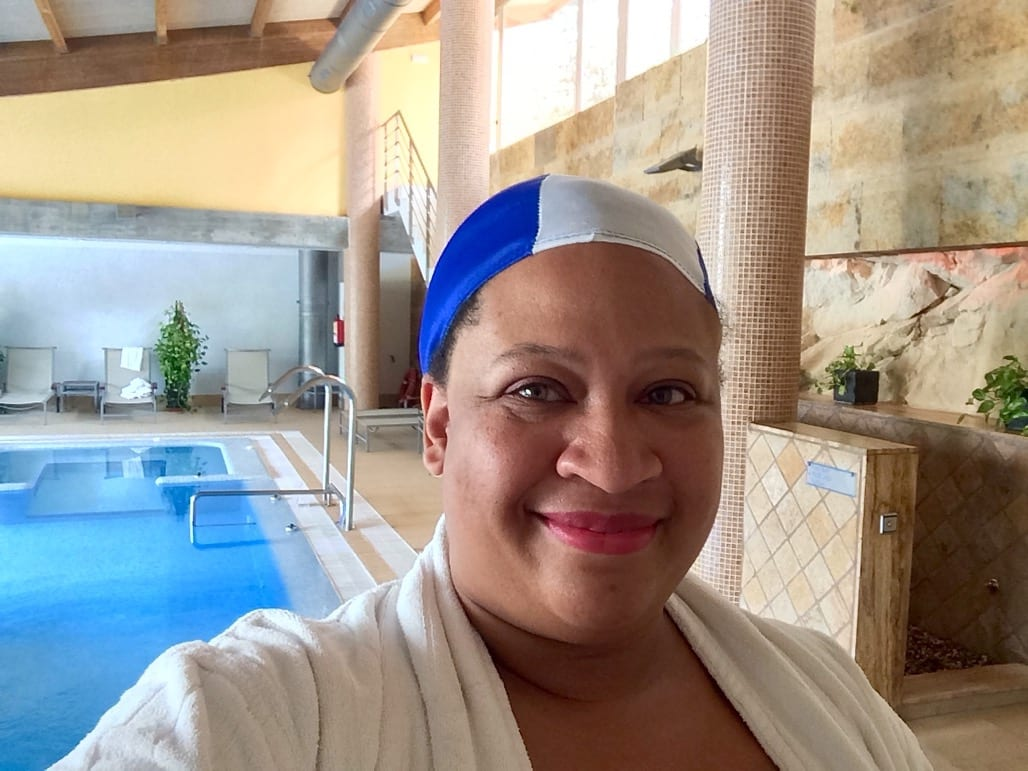 Not so sure about the bathing cap at Artiem Audax spa, in Menorca
