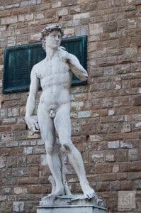 Replica of David in Piazza Vecchio, Florence