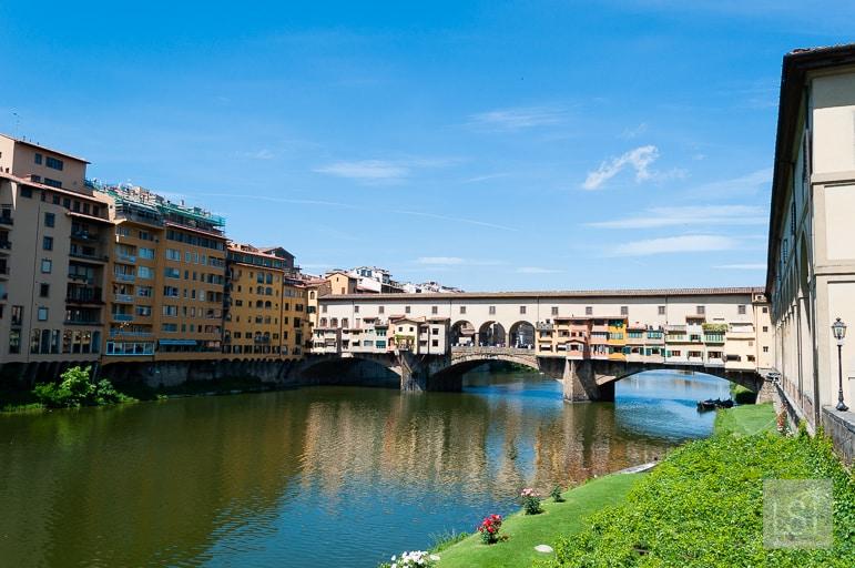 The Ponte Vecchio, is Florence's oldest bridge