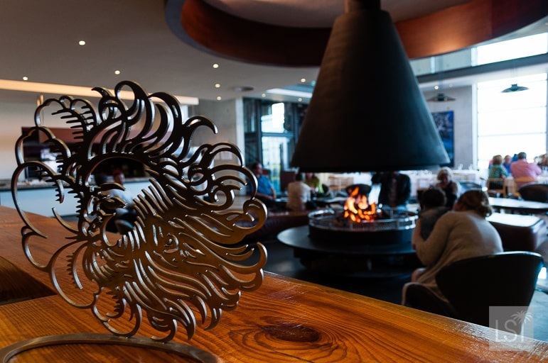 The Restaurant at Waterkloof with its wind logo
