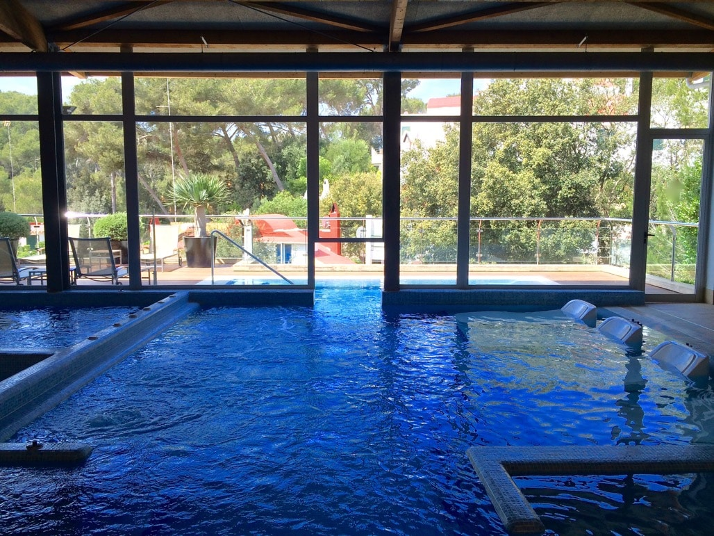Thermal circuit pool at the spa at Artiem Audax Hotel, Menorca