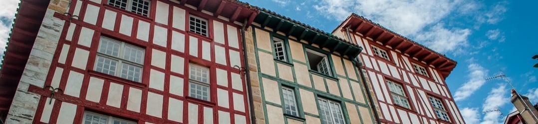 Bayonne's buildings on the Aquitaine coast