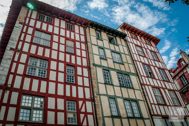 Bayonne's buildings on the Aquitaine coast in south-west France