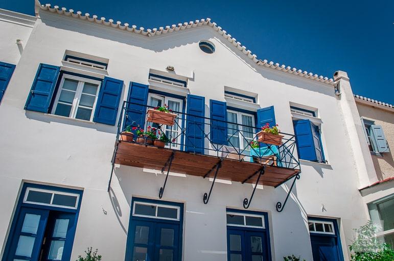 Feeling blue in Spetses Greece