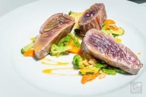 Seared Tuna with petite legumes