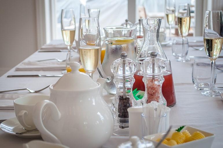 Tales of Stellenbosch wineries - breakfast starts with wine