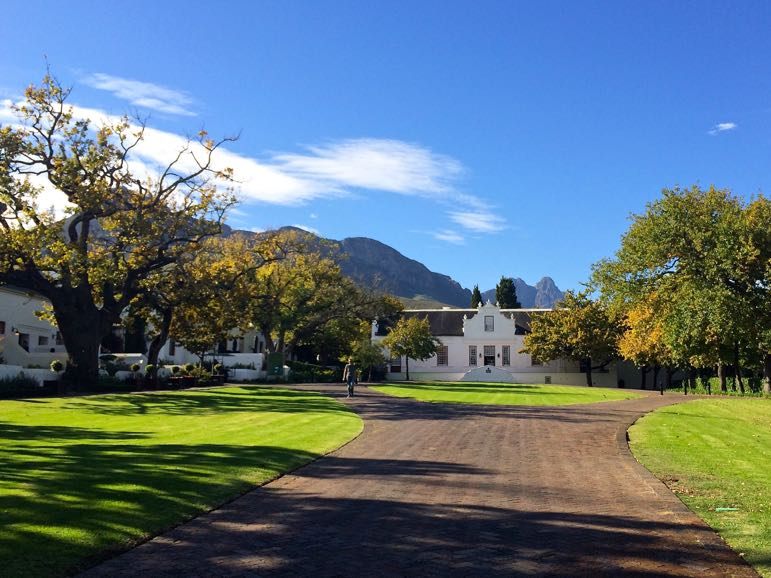 Tales of Stellenbosch wineries - the Cape Dutch buildings of Lanzerac Wine Estate