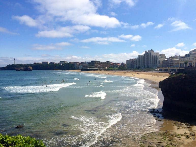 The beach at Biarritz