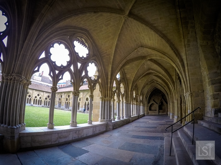 The cloisters at Bayonne's cathedral in south-west France