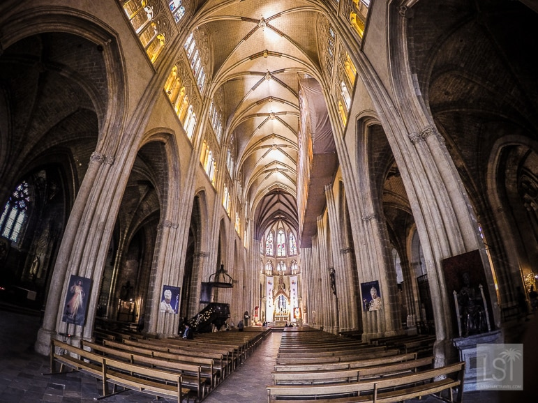 The gothic cathedral of St Mary's of Bayonne, Aquitaine in south-west Frnace