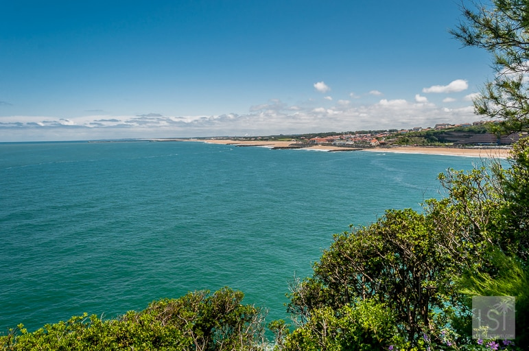 View of Anglet's beaches from Biarritz on the Aquitaine coast