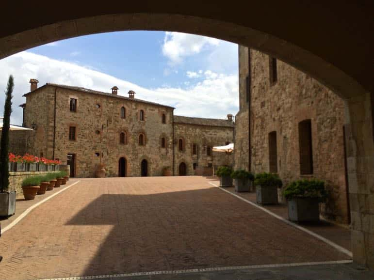 A taste of Tuscany - the countryside at Castel Monastero