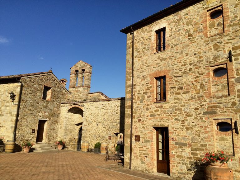 Castel Monastero is on the site of a converted monastery