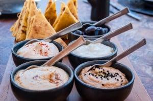 Greek cuisine - starters at Amanzo'e Resort & Spa