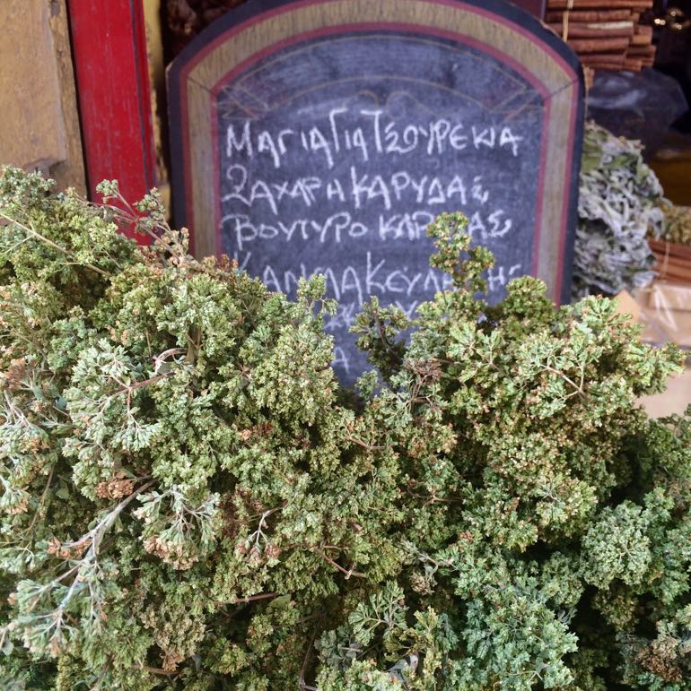 Greek cuisine - wild oregano at Varvakeios Market, Athens